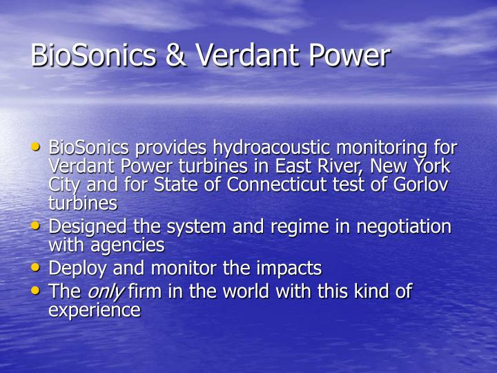 BioSonics & Verdant Power