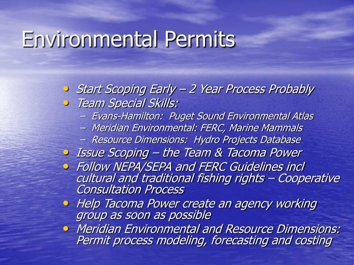 Environmental Permits