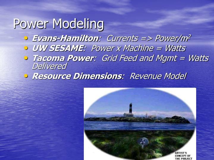 Power Modeling