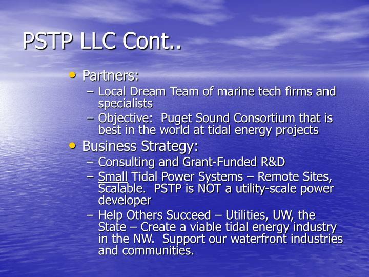 PSTP LLC Cont..