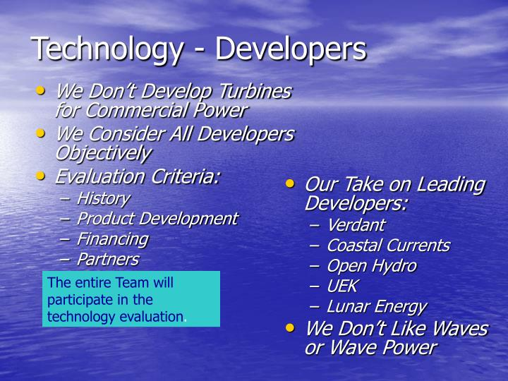Technology - Developers