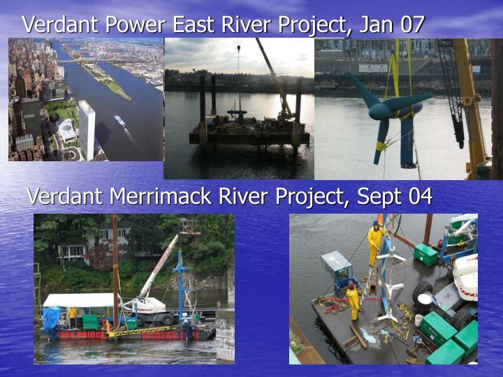 Verdant Power East River Project, Jan 07
