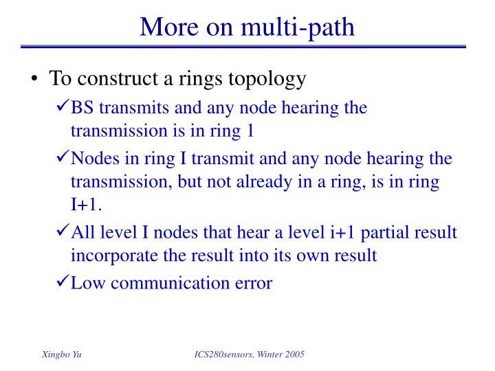 More on multi-path