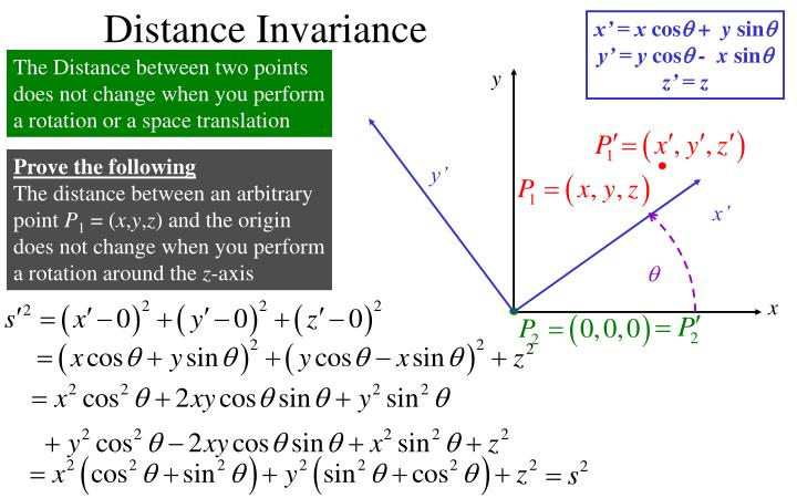 Distance Invariance