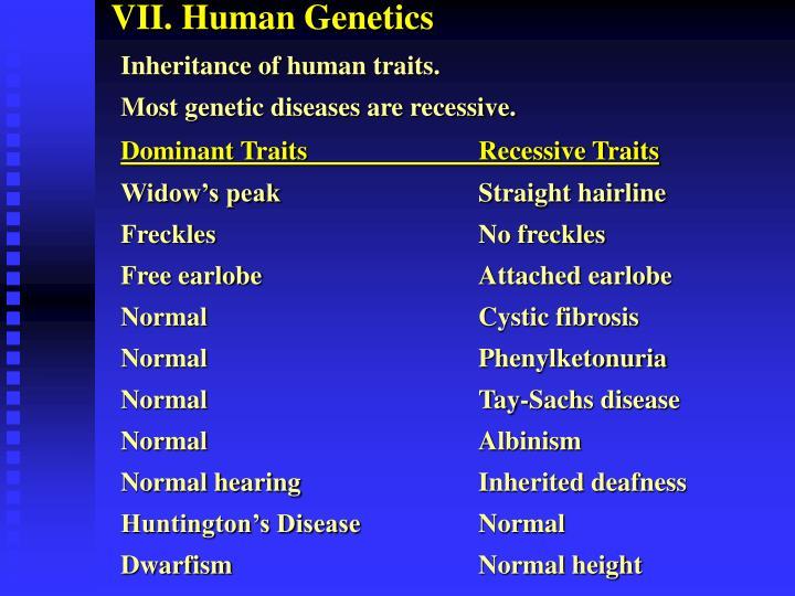 VII. Human Genetics