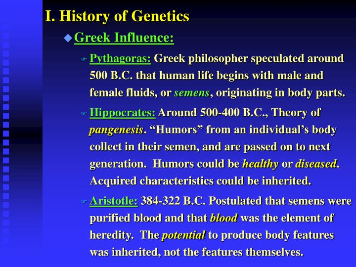 I. History of Genetics