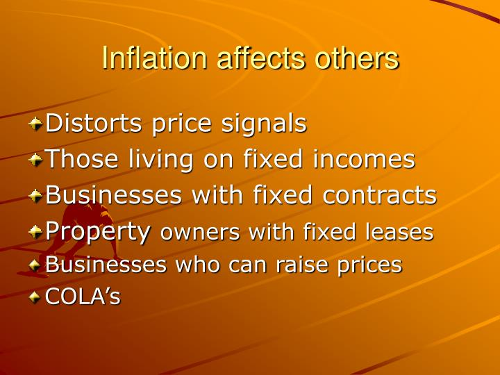 Inflation affects others
