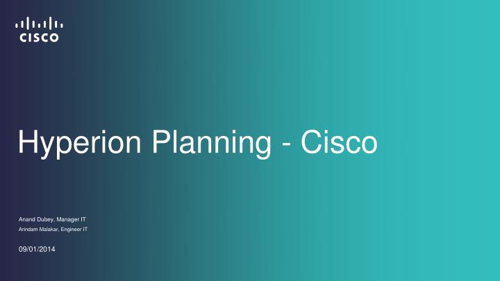 Hyperion planning cisco