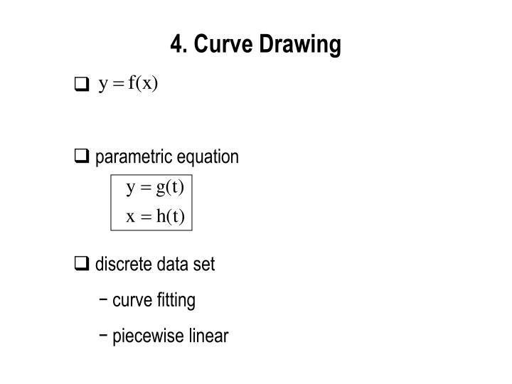4. Curve Drawing