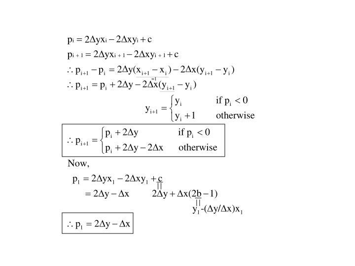 Bresenham's Line algorithm(Cont')