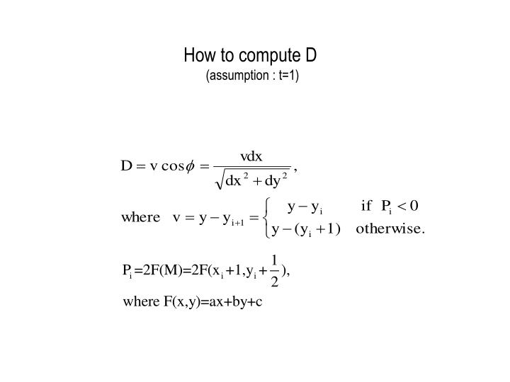 How to compute D