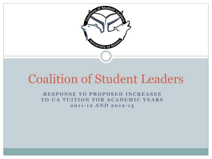 Coalition of student leaders