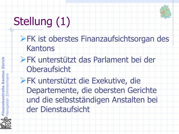 FK ist oberstes Finanzaufsichtsorgan des Kantons