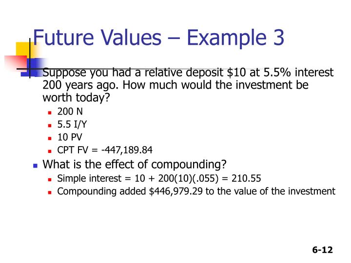 Future Values – Example 3