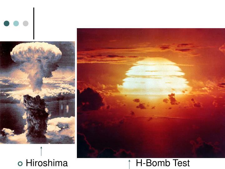 Hiroshima                          H-Bomb Test