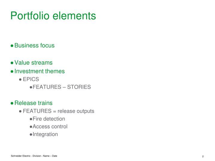 Portfolio elements