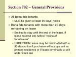 section 702 general provisions