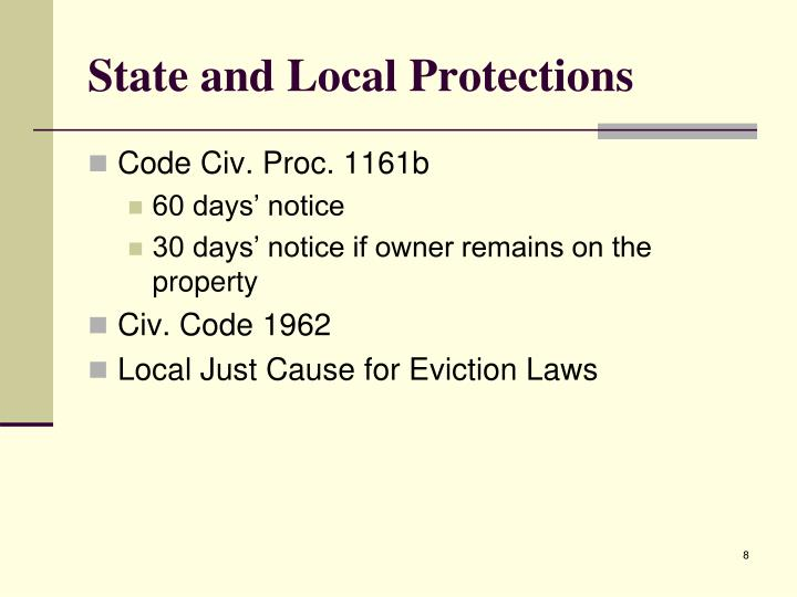 State and Local Protections