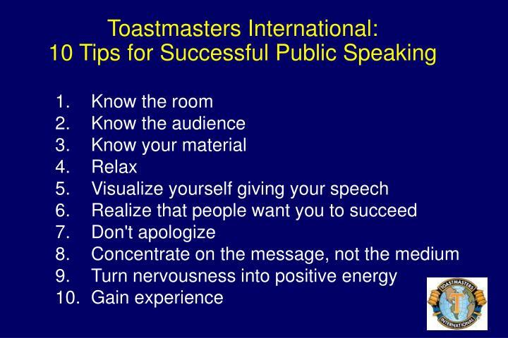 Toastmasters International: