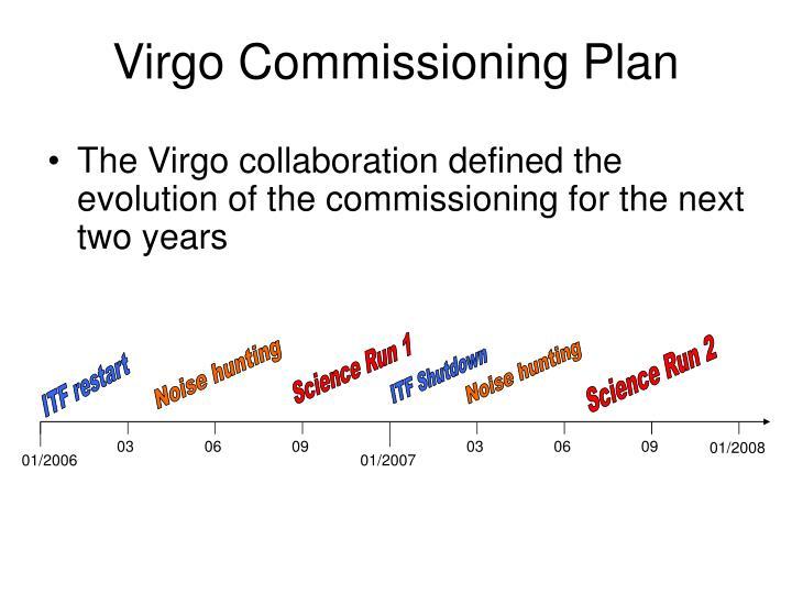 Virgo Commissioning Plan