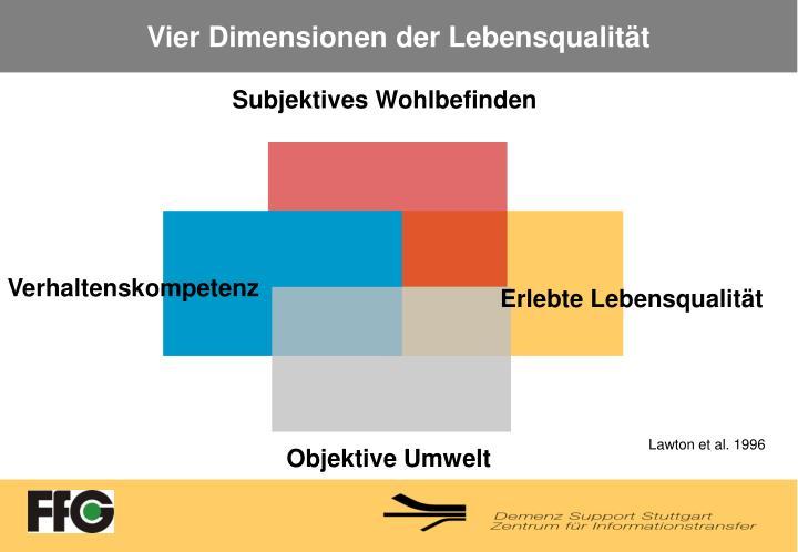 Vier Dimensionen der Lebensqualität