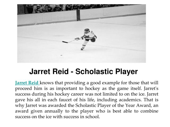 Jarret Reid - Scholastic Player