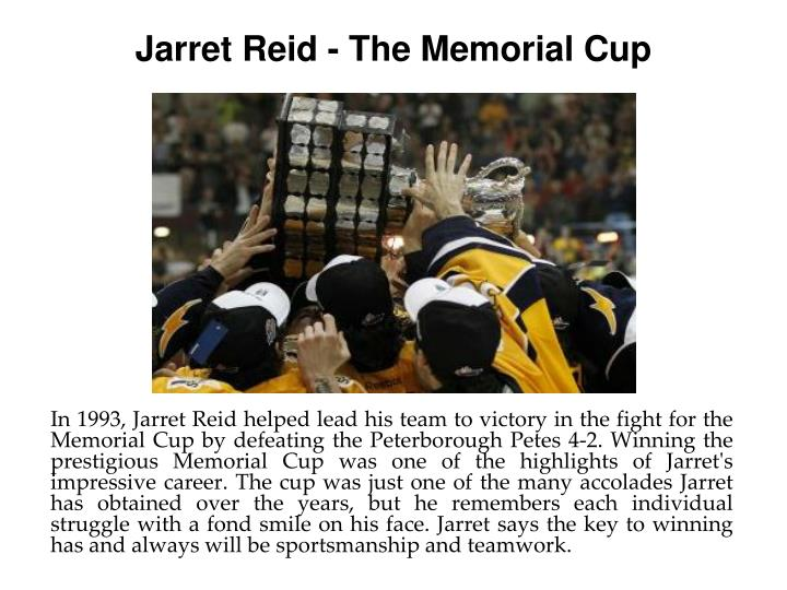 Jarret Reid - The Memorial Cup