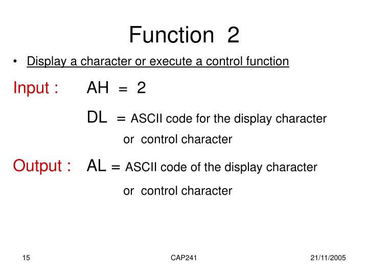 Function  2