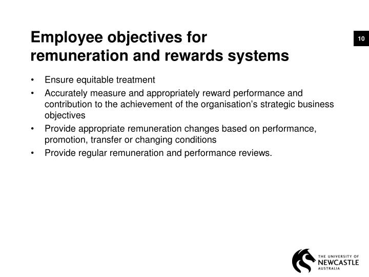 Employee objectives for