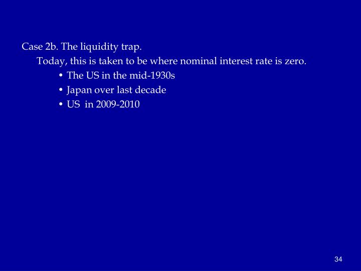 Case 2b. The liquidity trap.