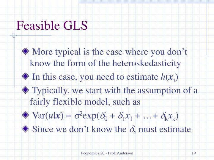Feasible GLS
