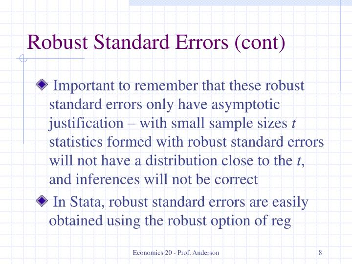 Robust Standard Errors (cont)