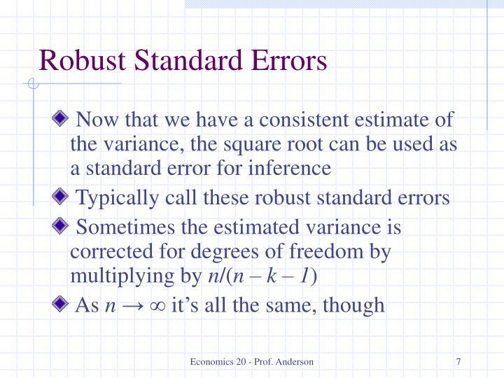 Robust Standard Errors