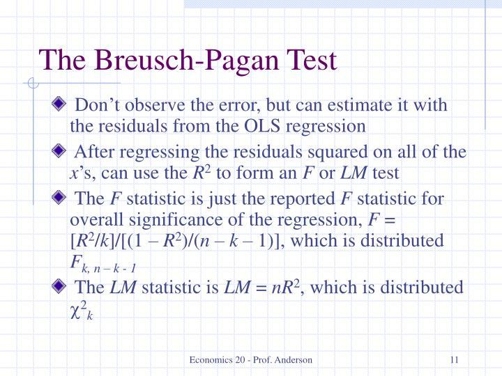 The Breusch-Pagan Test