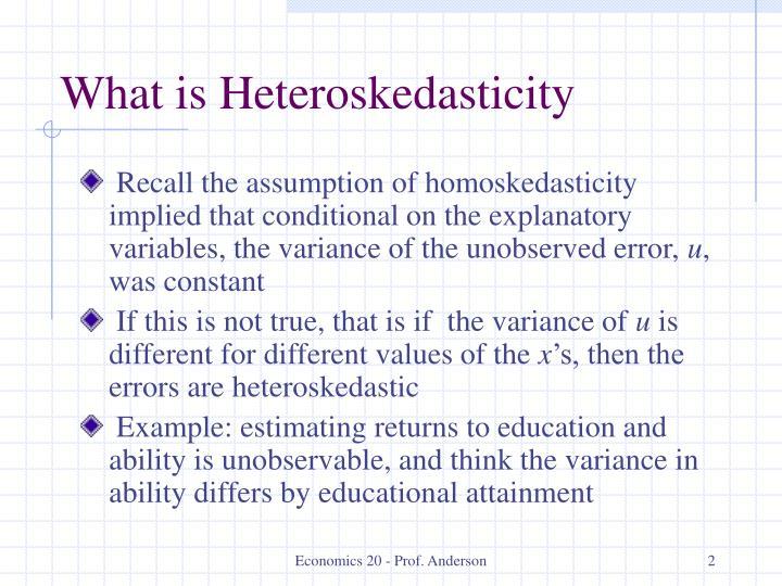 What is Heteroskedasticity