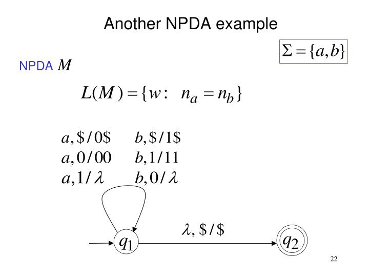 Another NPDA example