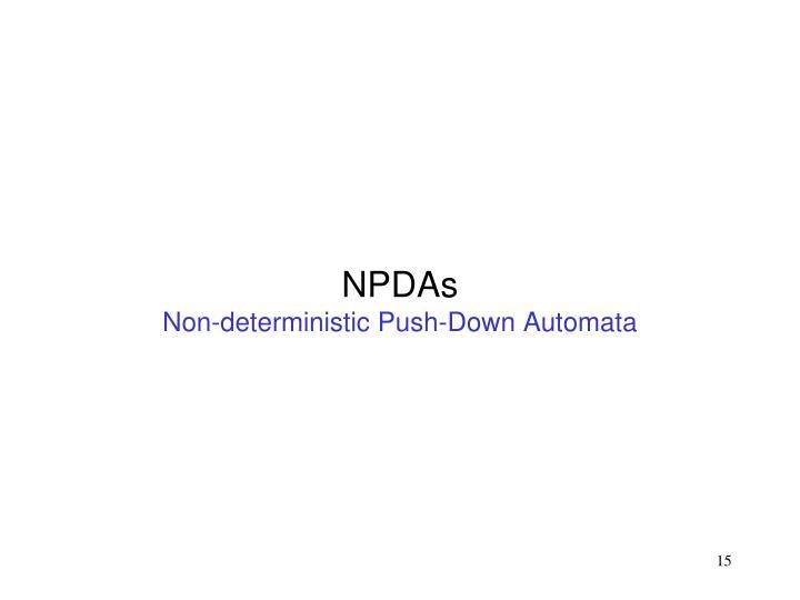 NPDAs