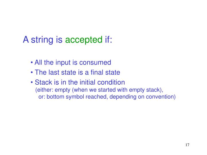 A string is