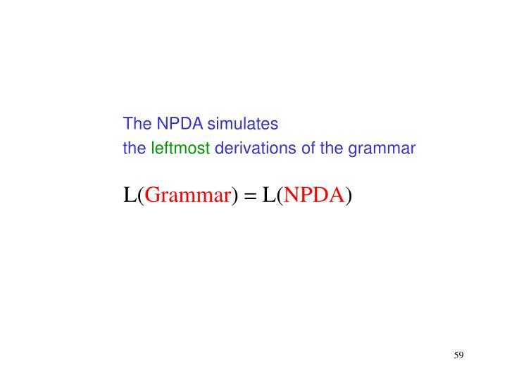 The NPDA simulates