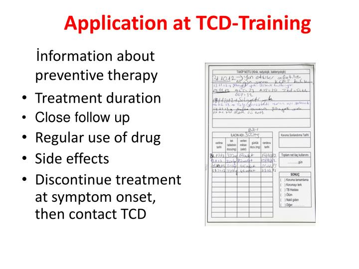 Application at TCD-Training