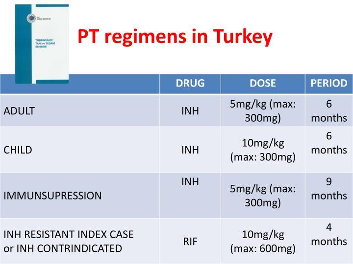 PT regimens in Turkey