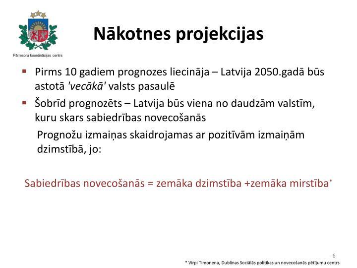 Nākotnes projekcijas