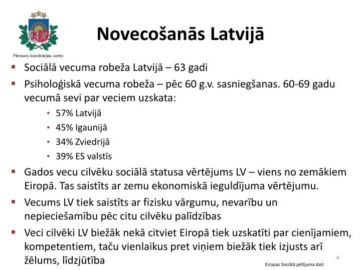 Novecošanās Latvijā