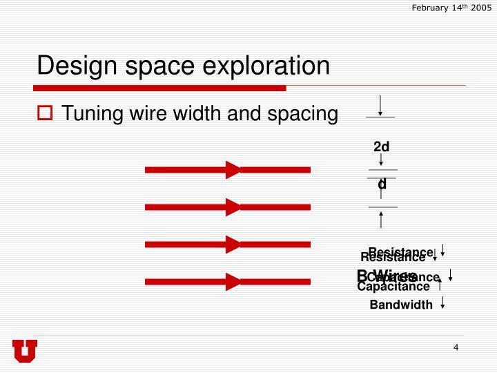 Design space exploration