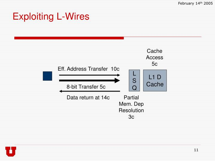 Exploiting L-Wires