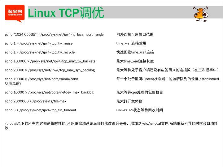 Linux TCP