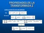 propiedades de la transformada z4