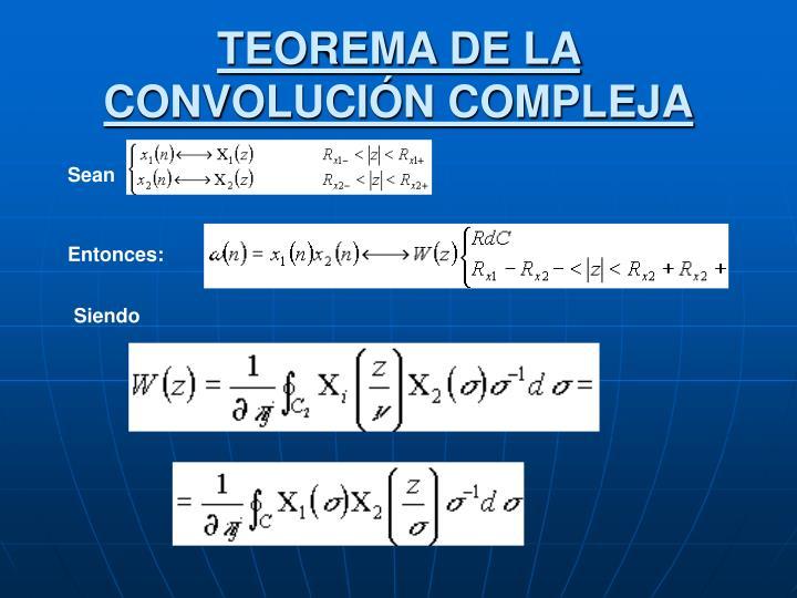 TEOREMA DE LA CONVOLUCIÓN COMPLEJA