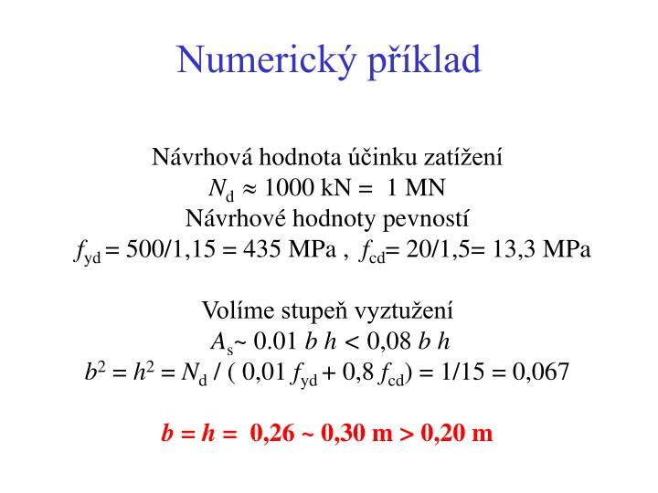 Numerický příklad