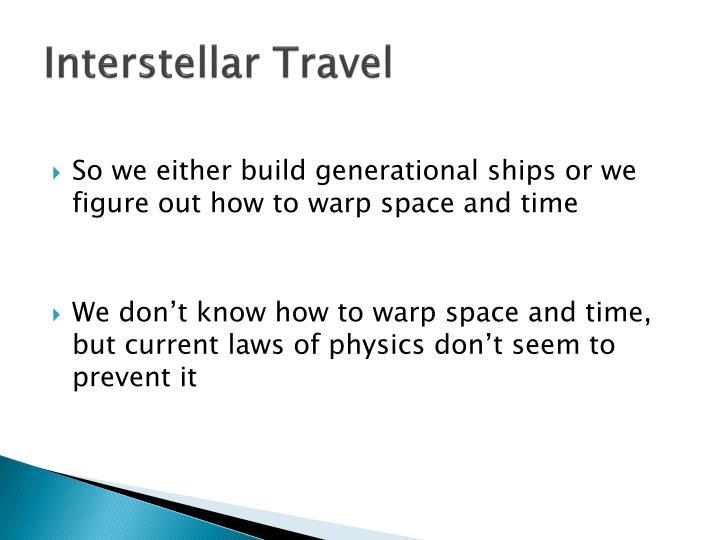 Interstellar Travel